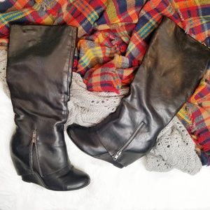 Crown Vintage | Contra Leather Wedge Boot